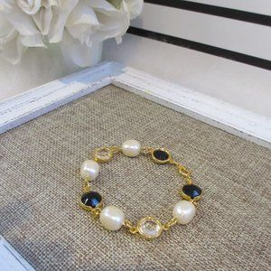 Pear and Bead Bracelet